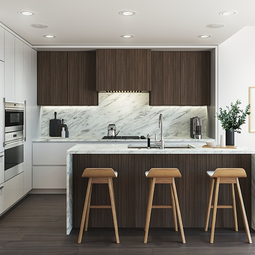 Kitchen Rendering for Cambie Garden Project by ONNI Group