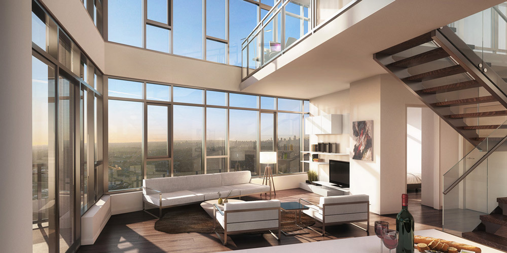 Interior Rendering for Bosa Developments Solo Project in Burnaby