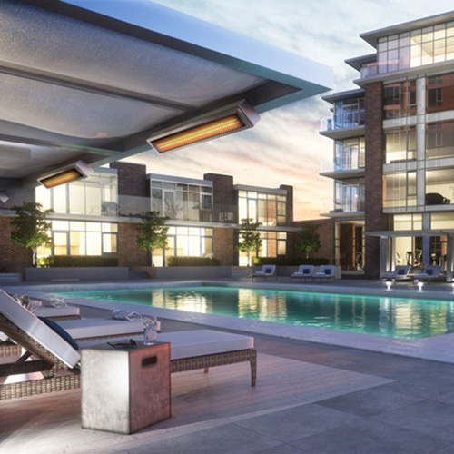 Amenity/Pool rendering for Bosa's Encore in Victoria